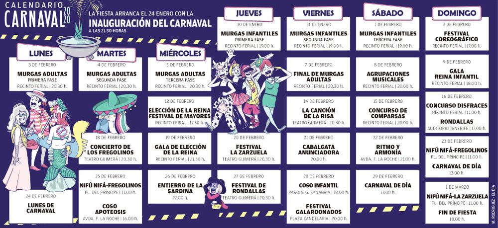 карнавал тенерифе 2020 даты и расписание