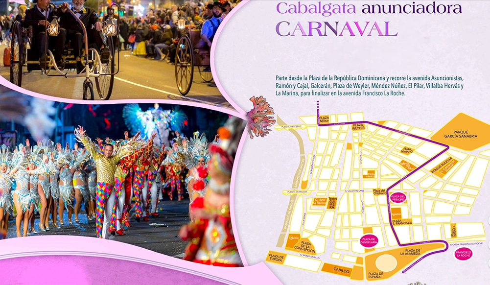 карта карнавала на Тенерифе