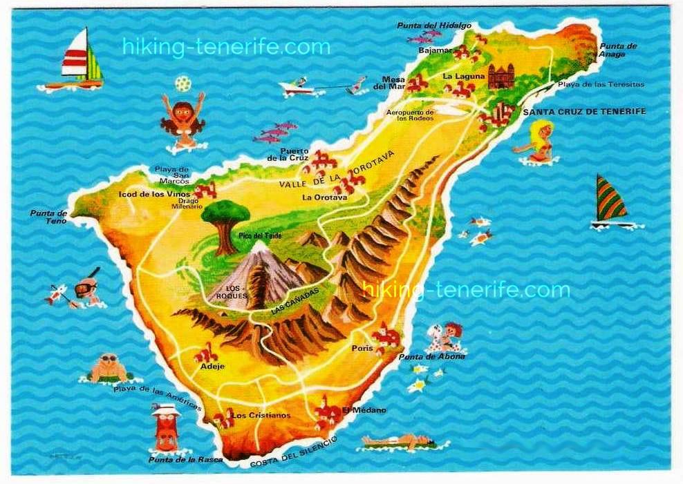 карта достопримечательностей тенерифе