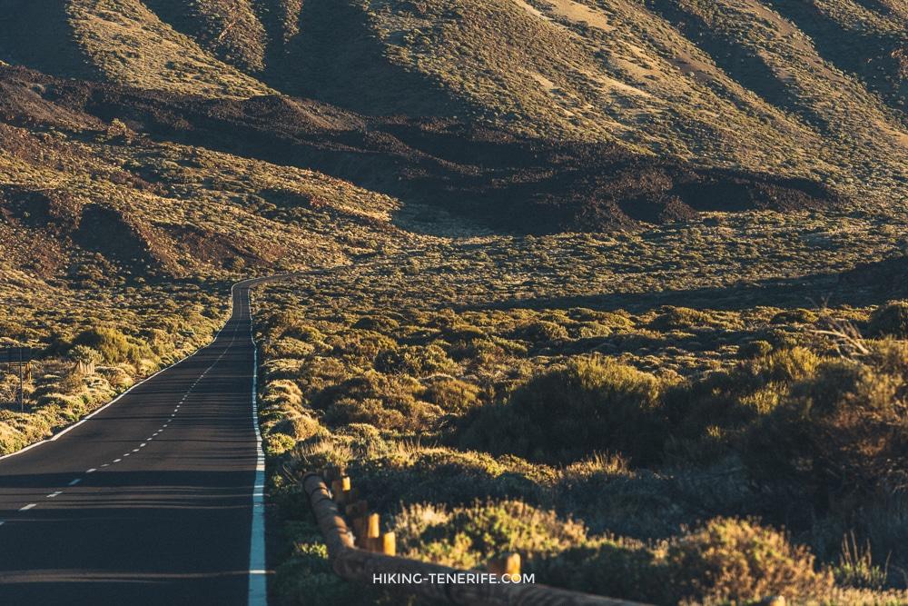 Автомобильный маршрут к вулкану Тейде