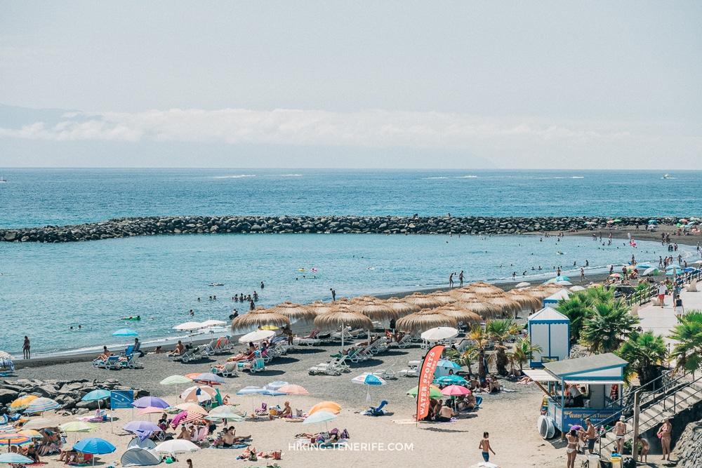 пляж эль дюк на Тенерифе