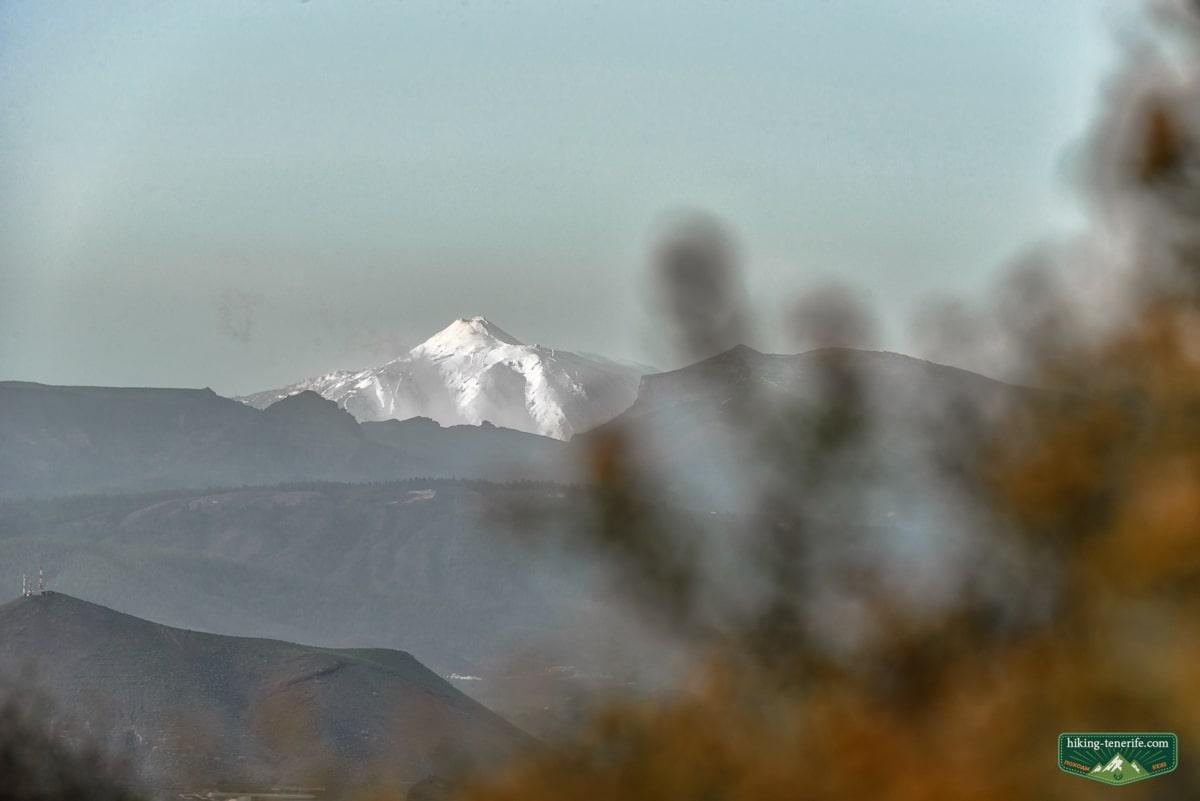 снег на Тейде зимой