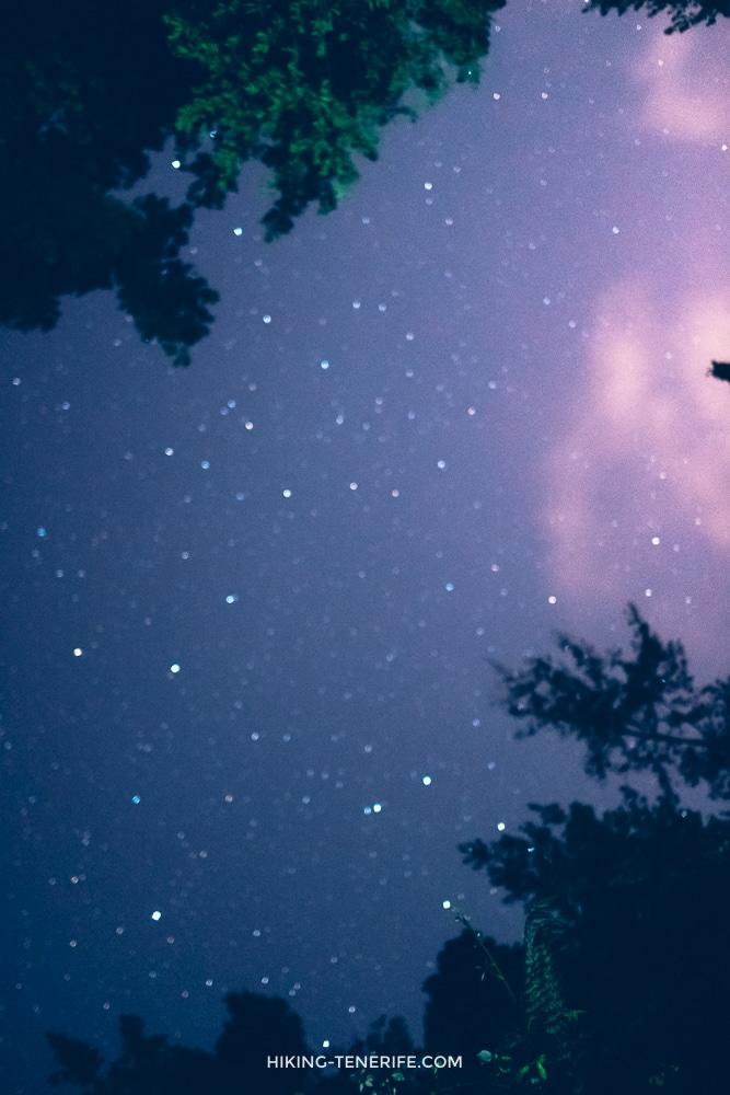 звёзды на тенерифе ночью