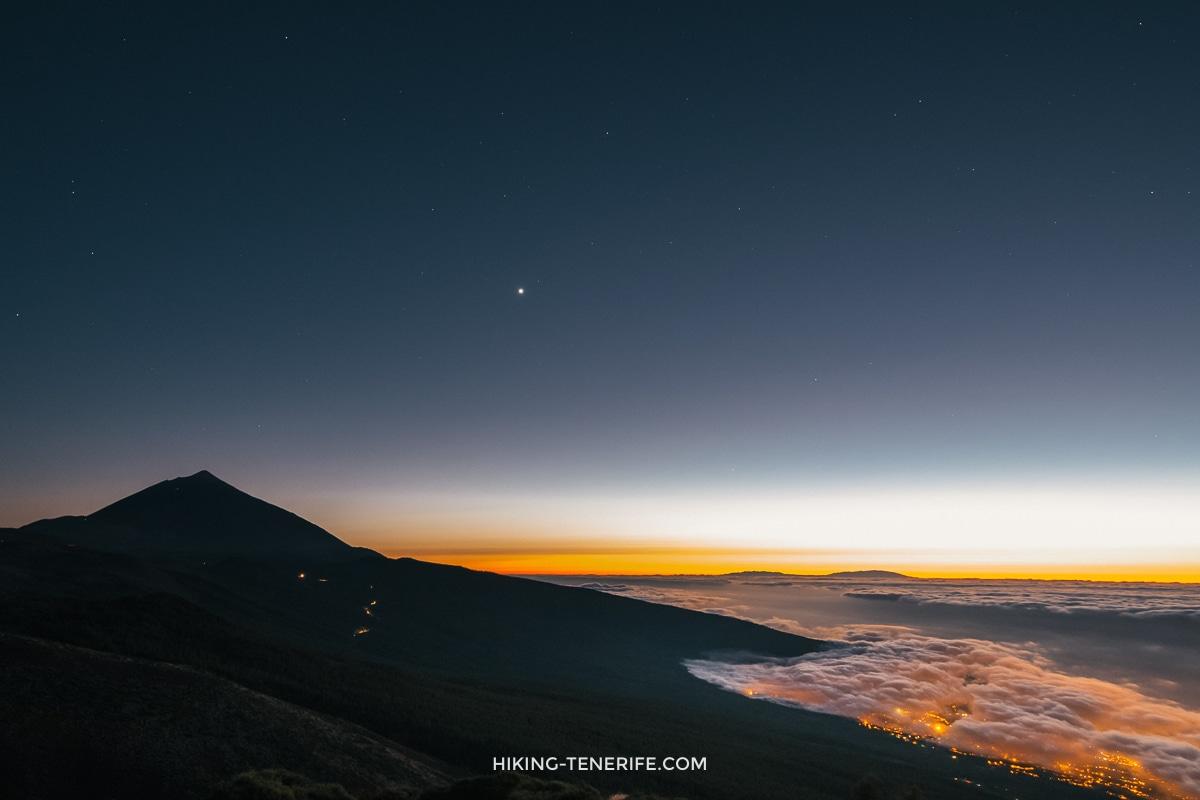 закат над Тейде