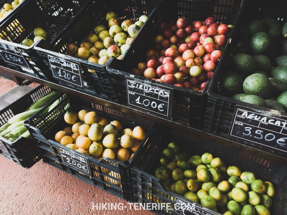 цены на рынке Тенерифе