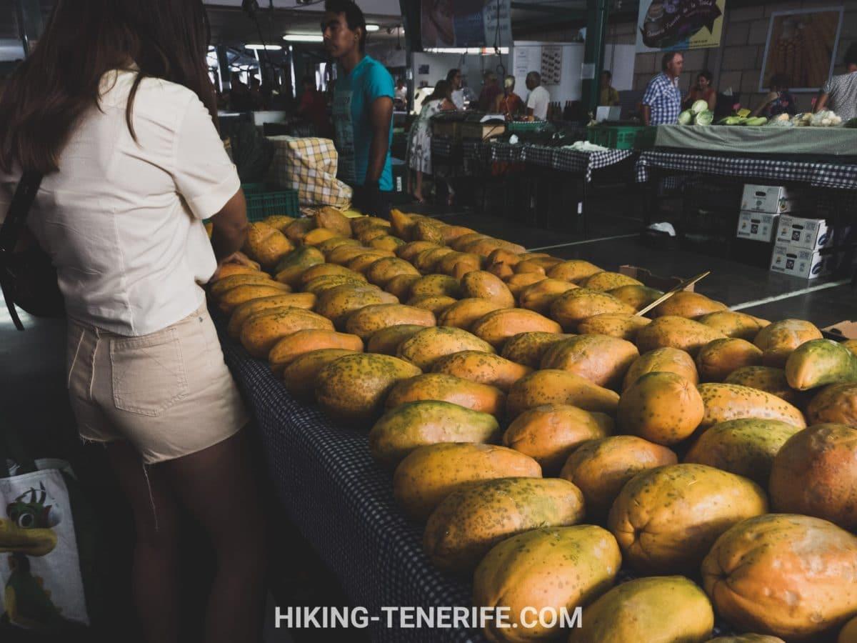 продукты на рынке тенерифе