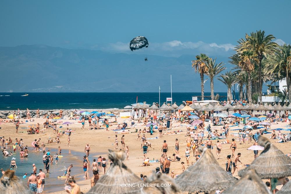 лето на пляже тенерифе