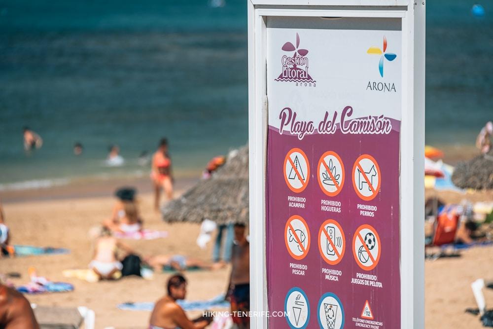 пляж эль камисон тенерифе