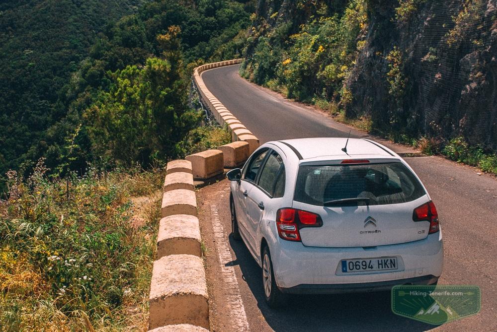 на автомобиле в Анагу Тенерифе