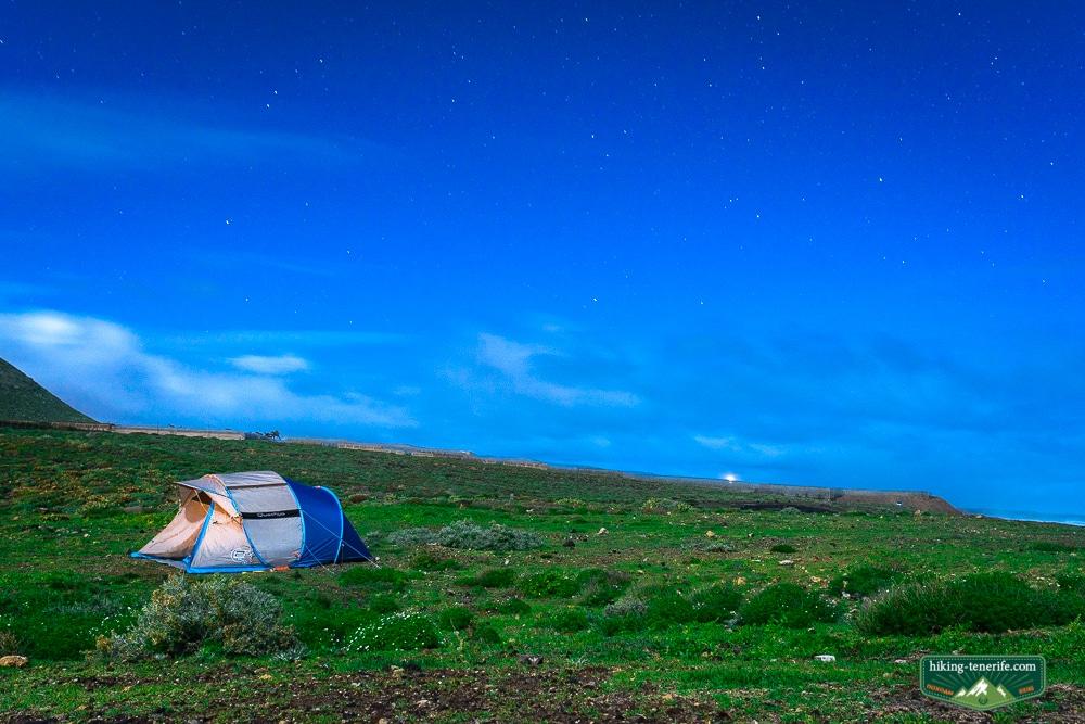 ночёвка в палатке под звёздным небом тенерифе