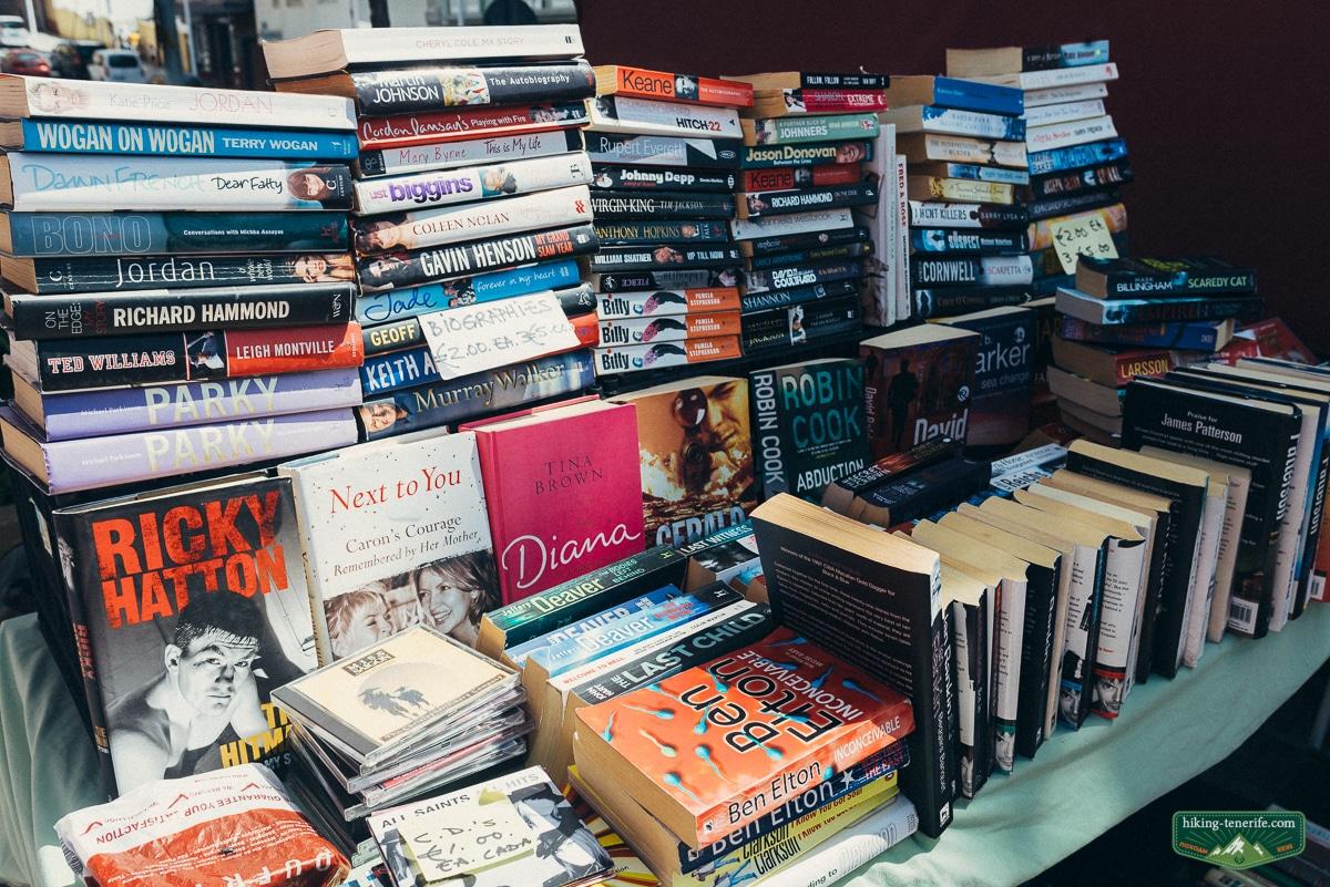 книги на рынке в ла лагуне