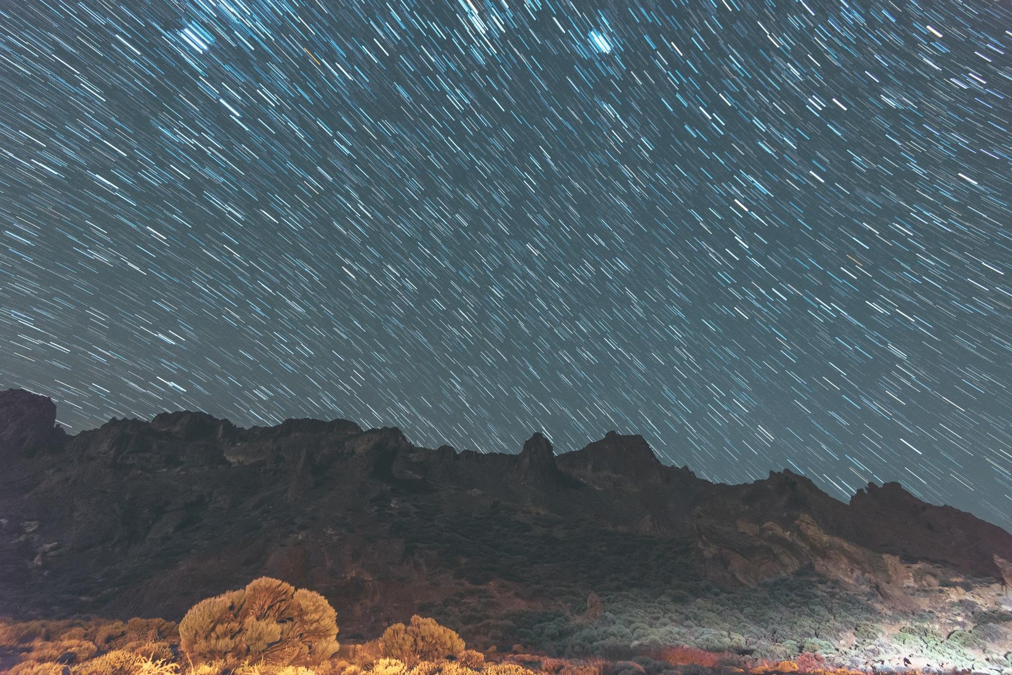 фотография звезд тенерифе