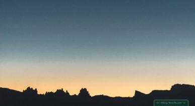 рассвет над вулканом Тейде